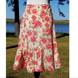 Odille cotton floral skirt